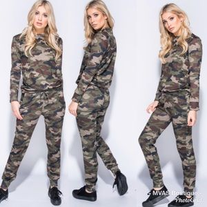 Pants - Camo Sweat Suit Set